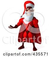 Royalty Free RF Clipart Illustration Of A 3d Super Santa Gesturing 1