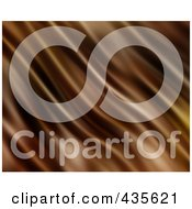 Royalty Free RF Clipart Illustration Of A Background Of Smooth Chocolate Ripples