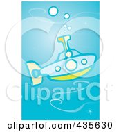 Royalty Free RF Clipart Illustration Of A Submarine by xunantunich