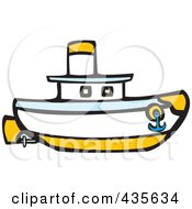 Royalty Free RF Clipart Illustration Of A Nautical Boat