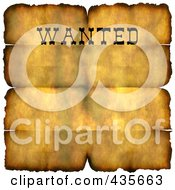 Royalty Free RF Clipart Illustration Of A Grungy Wanted Parchment Sign With Burnt Edges And Folds
