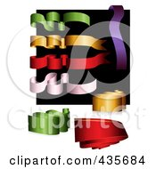 Royalty Free RF Clipart Illustration Of A Digital Collage Of Colorful Ribbons