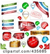 Royalty Free RF Clipart Illustration Of A Digital Collage Of Ecommerce Icons by MilsiArt