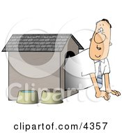 Businessman In The Doghouse Clipart