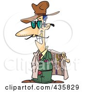 Royalty Free RF Clipart Illustration Of A Knock Off Salesman Selling Watches