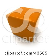 Clipart Illustration Of A 3d Orange Cubic Chair