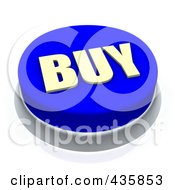 Royalty Free RF Clipart Illustration Of A 3d Blue Buy Push Button by Jiri Moucka