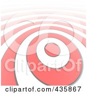 Royalty Free RF Clipart Illustration Of A Stretched Bullseye Ring Pattern by Jiri Moucka