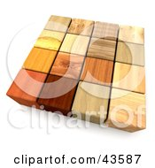 Clipart Illustration Of 3d Mixed Wood Blocks