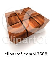 Clipart Illustration Of 3d Dark Wood Blocks
