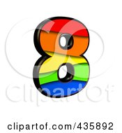 Royalty Free RF Clipart Illustration Of A 3d Rainbow Symbol Number 8 by chrisroll