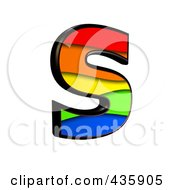 Royalty Free RF Clipart Illustration Of A 3d Rainbow Symbol Capital Letter S by chrisroll