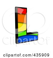 Royalty Free RF Clipart Illustration Of A 3d Rainbow Symbol Capital Letter L