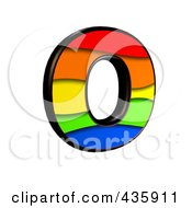 Royalty Free RF Clipart Illustration Of A 3d Rainbow Symbol Capital Letter O by chrisroll