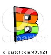 3d Rainbow Symbol Capital Letter B by chrisroll