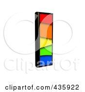 3d Rainbow Symbol Capital Letter I by chrisroll