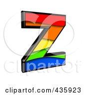 3d Rainbow Symbol Capital Letter Z by chrisroll