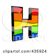 Royalty Free RF Clipart Illustration Of A 3d Rainbow Symbol Capital Letter H