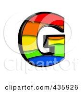 3d Rainbow Symbol Capital Letter G by chrisroll