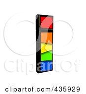 3d Rainbow Symbol Lowercase Letter I by chrisroll