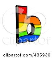 3d Rainbow Symbol Lowercase Letter B by chrisroll