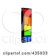 3d Rainbow Symbol Lowercase Letter L by chrisroll