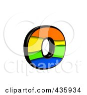 Royalty Free RF Clipart Illustration Of A 3d Rainbow Symbol Lowercase Letter O