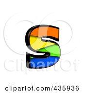 3d Rainbow Symbol Lowercase Letter S by chrisroll