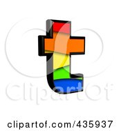 Royalty Free RF Clipart Illustration Of A 3d Rainbow Symbol Lowercase Letter T