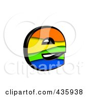 Royalty Free RF Clipart Illustration Of A 3d Rainbow Symbol Lowercase Letter E