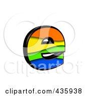 3d Rainbow Symbol Lowercase Letter E by chrisroll