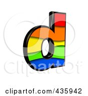Royalty Free RF Clipart Illustration Of A 3d Rainbow Symbol Lowercase Letter D
