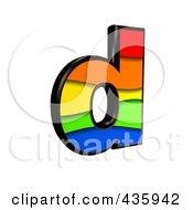3d Rainbow Symbol Lowercase Letter D by chrisroll