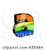 Royalty Free RF Clipart Illustration Of A 3d Rainbow Symbol Lowercase Letter A
