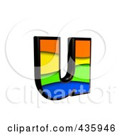 Royalty Free RF Clipart Illustration Of A 3d Rainbow Symbol Lowercase Letter U