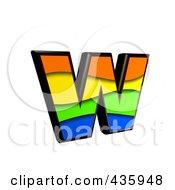 3d Rainbow Symbol Lowercase Letter W by chrisroll
