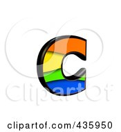 Royalty Free RF Clipart Illustration Of A 3d Rainbow Symbol Lowercase Letter C
