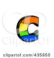 3d Rainbow Symbol Lowercase Letter C by chrisroll