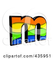 Royalty Free RF Clipart Illustration Of A 3d Rainbow Symbol Lowercase Letter M