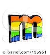 3d Rainbow Symbol Lowercase Letter M by chrisroll