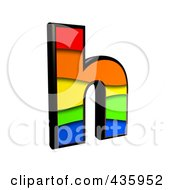 Royalty Free RF Clipart Illustration Of A 3d Rainbow Symbol Lowercase Letter H