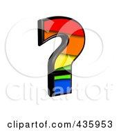 3d Rainbow Symbol Question Mark by chrisroll