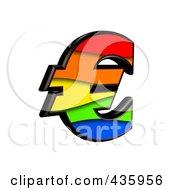3d Rainbow Symbol Euro by chrisroll