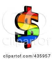 3d Rainbow Symbol Dollar by chrisroll