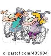Boy And Girl Ready For A Wheelchair Race