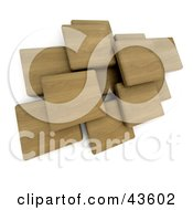 3d Wood Blocks Floating