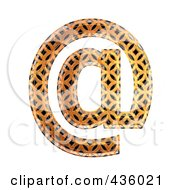 Royalty Free RF Clipart Illustration Of A 3d Patterned Orange Symbol Email At Arobase by chrisroll