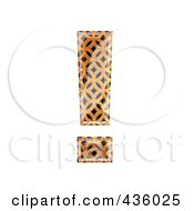 Royalty Free RF Clipart Illustration Of A 3d Patterned Orange Symbol Exclamation Point by chrisroll