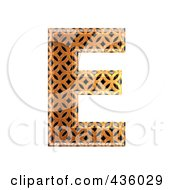 Royalty Free RF Clipart Illustration Of A 3d Patterned Orange Symbol Capital Letter E by chrisroll