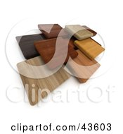 Clipart Illustration Of Multi Colored 3d Wood Blocks Floating